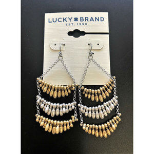 LUCKY BRAND Paddle Fringe Ladder Earrings